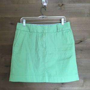 VINEYARD VINES Green Classic Chino Mini Skirt